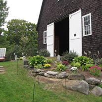 Apple Hill Inn flowers outside barn_facebook