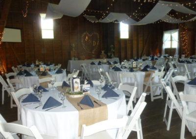 Barn Wedding Tables Set