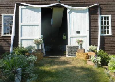 Barn Entrance - Wedding Day at Apple Hill Inn